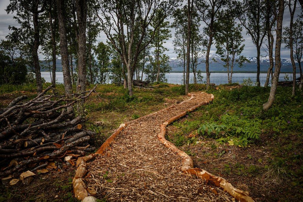 Fußweg zum Fjord.