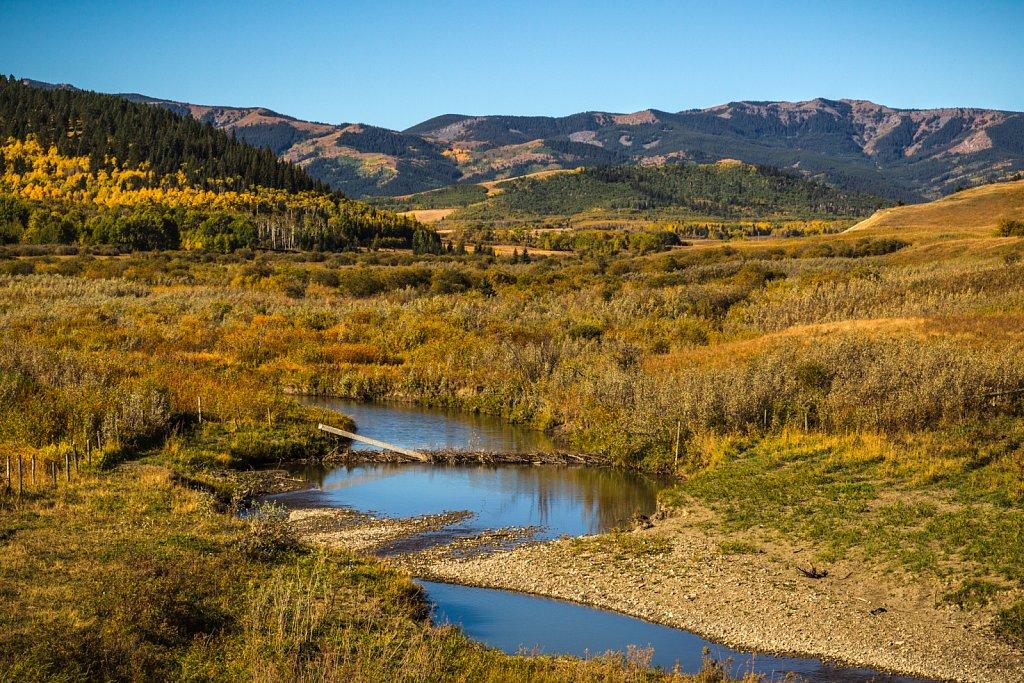 Im Gebiet des Cowboy Trail Ranchland, Alberta, Canada.